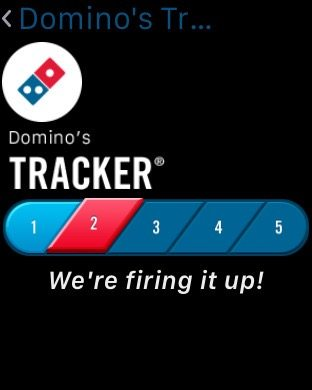 Domino's in-app pizza tracker