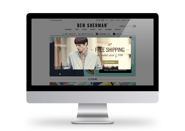 Ben Sherman overlay campaign example