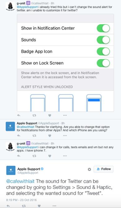 Apple Support on social media