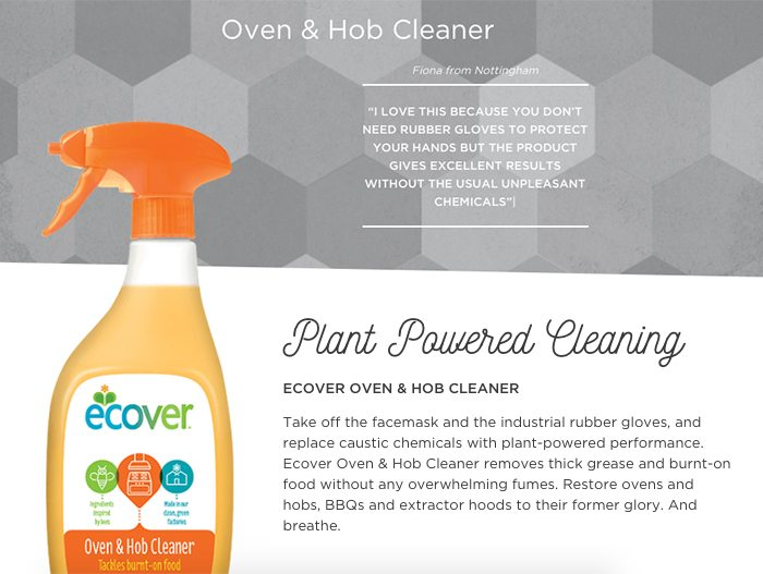 ecover oven cleaner product page
