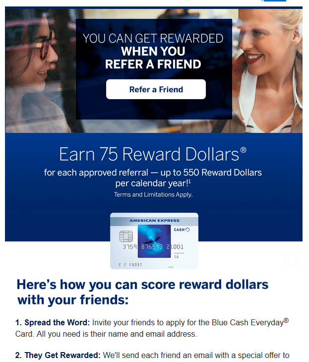 American Express referral programme