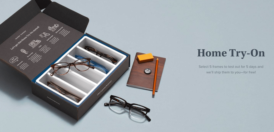 Warby Parker home try-on service
