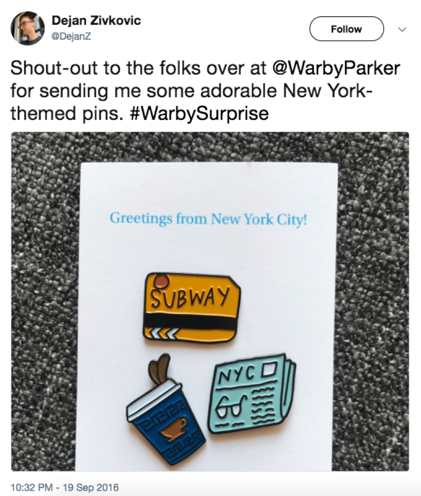 Warby Parker social media approach