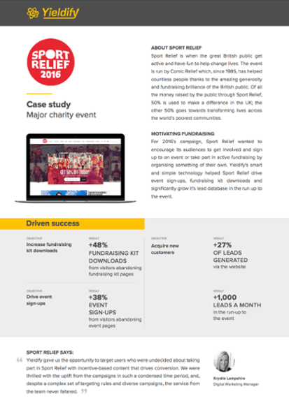 Sport Relief case study