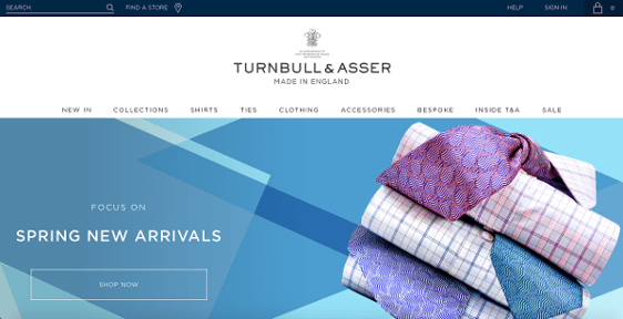 Turnbull and Asser homepage view