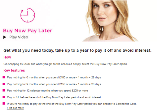 Very.com offer page