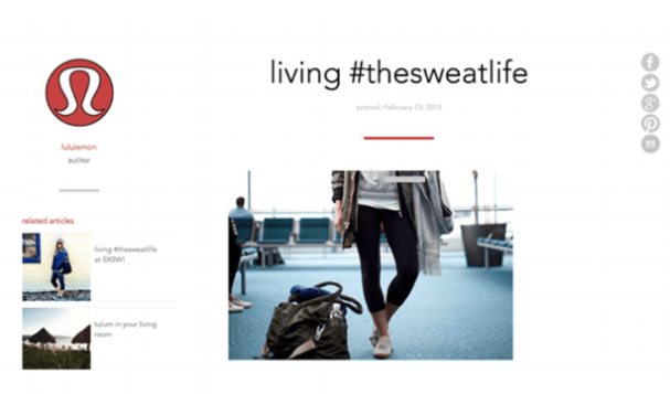 Lululemon the sweat life campaign