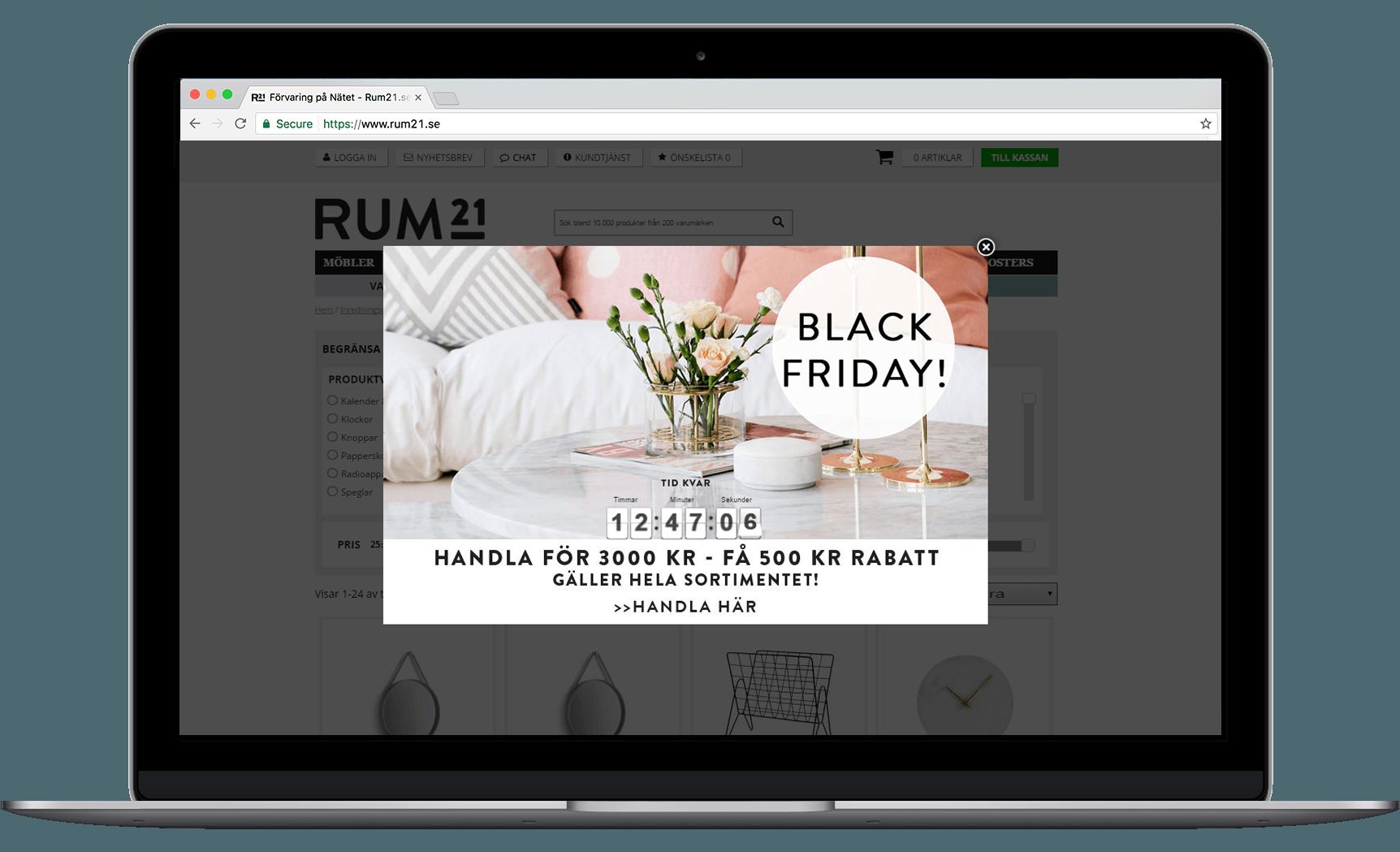 Rum21 Cyber Week countdown clock campaign