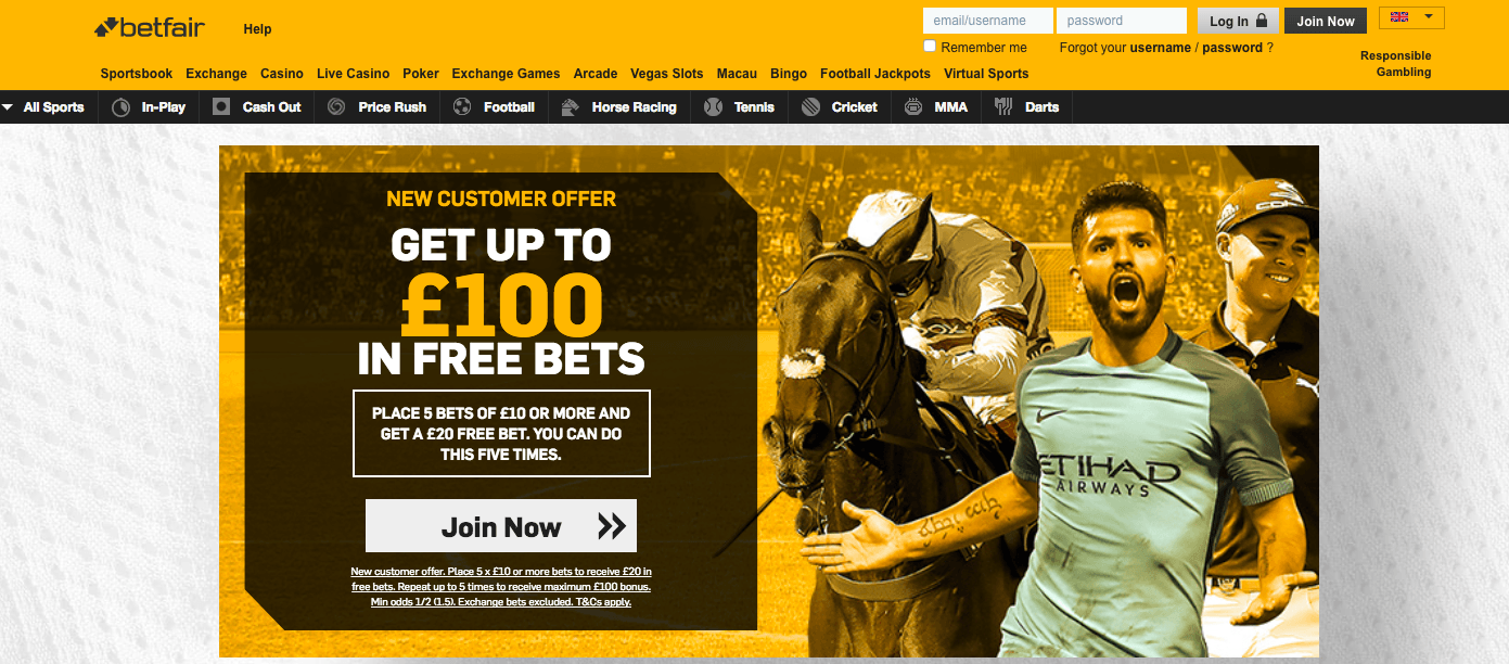 Betfair user experience