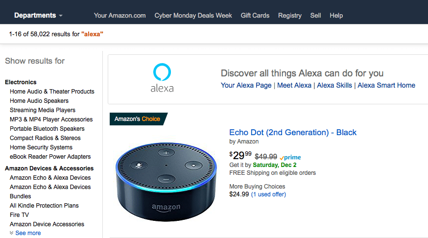Shipping costs Amazon Alexa