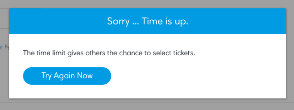 Ticketmaster urgency to purchase example 2