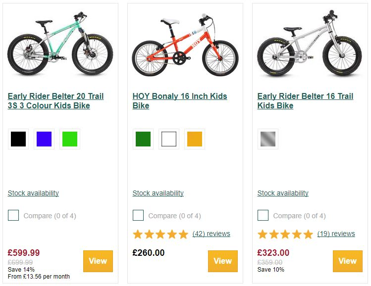 Evans Cycles price anchoring example increase order value