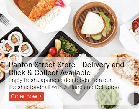 Japan Centre and AtHand offer click and collect