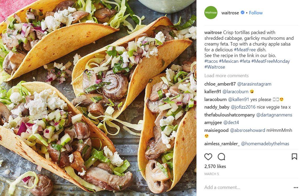 Waitrose use Instagram to offer inspiration