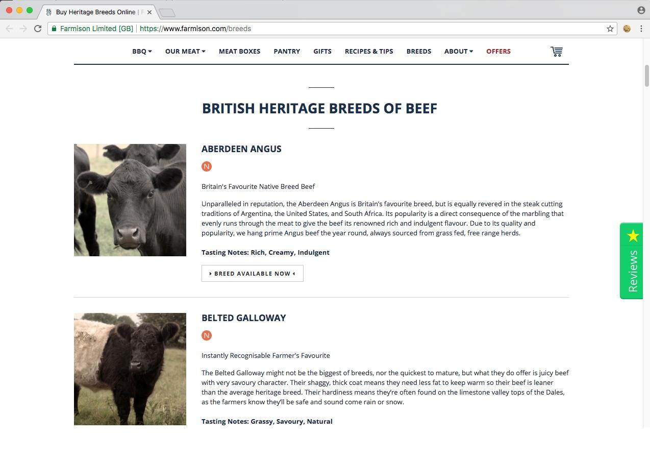 Farmison & Co animal breeds