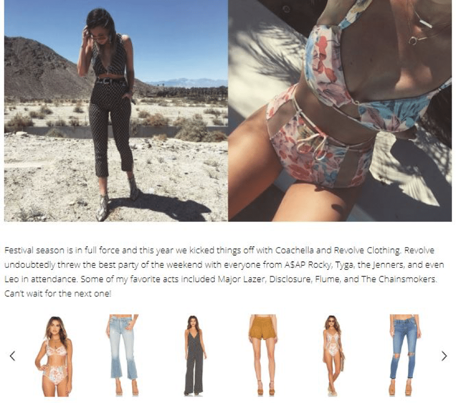 Fashion retailer Revolve used bloggers to recommend products for Coachella