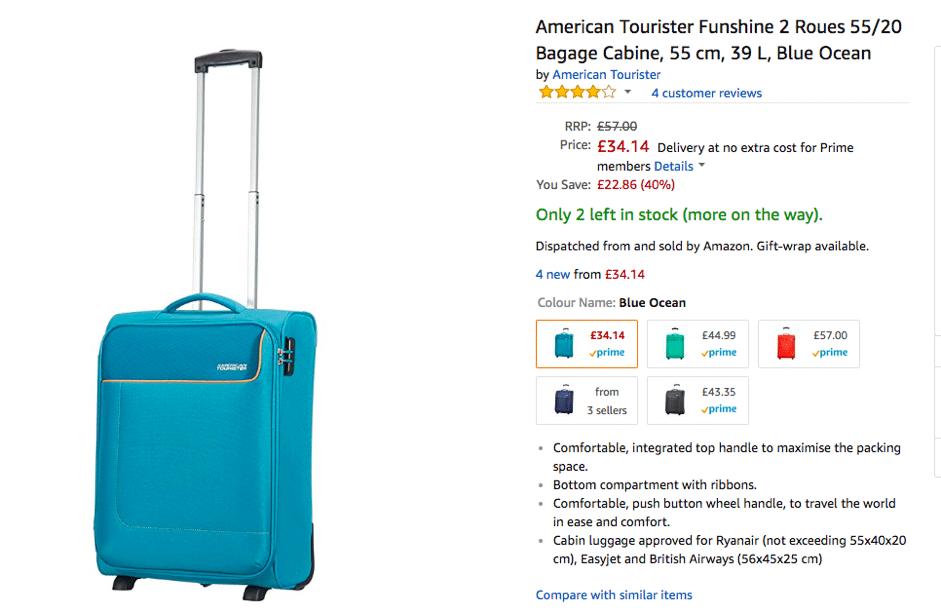 Amazon utilizes scarcity tactics