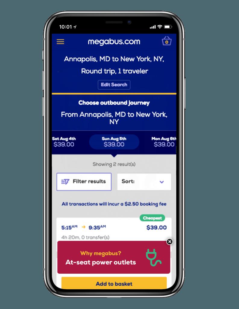 Megabus USP messaging