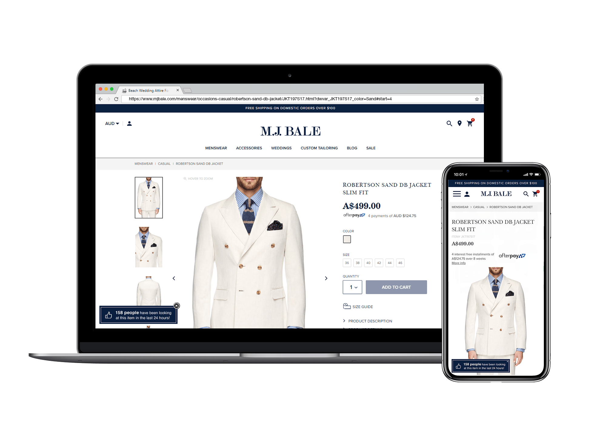 Product page social proof