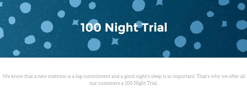 Psychology in e-commerce: 100 night trial