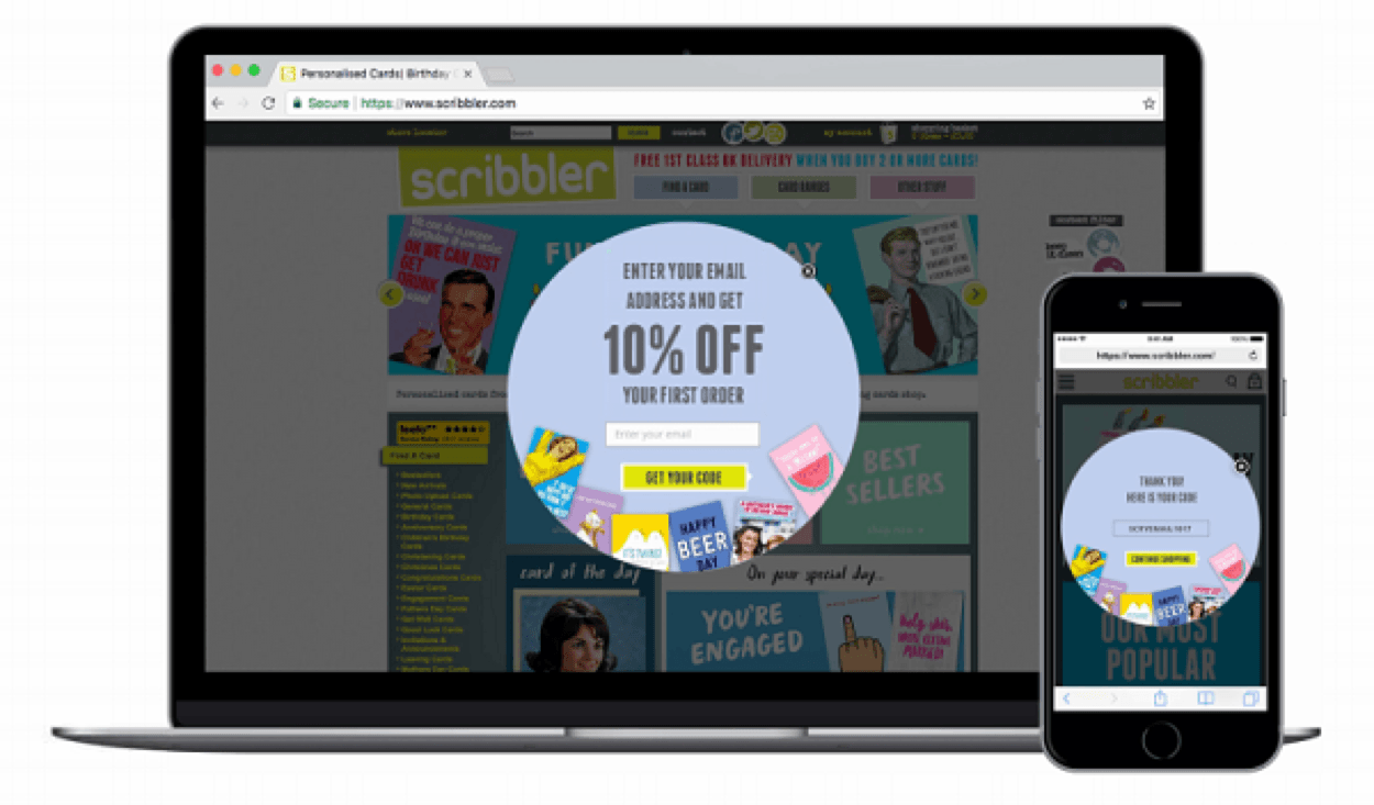 Scribbler lead capture case study